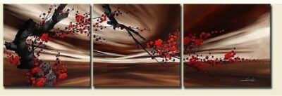 """New Modern Abstract Large Canvas Art Oil painting """"Tenacious flowers"""" No Frame"""