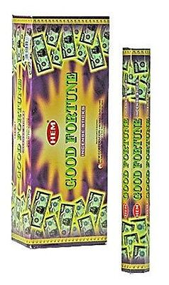 20 HEM INCENSE STICKS GOOD FORTUNE Wicca Witch Pagan Reiki Goth Punk Charmed