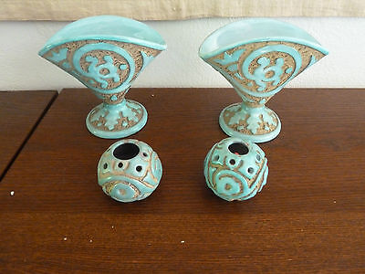 Vintage Mid Century Modern PV Peasant Valley Sgraffito Italian Pottery Items