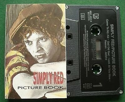 Simply Red Picture Book Absolutely Ex Condition Cassette Tape - TESTED