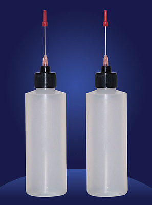 2-4 OZ bottles with stainless needle tip for Any Clock/Machinery Oil