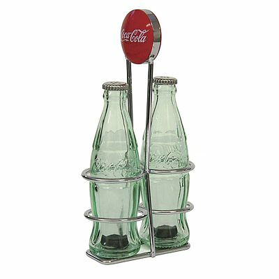 TableCraft Coca-Cola / Coke Bottle Salt & Pepper Shakers with Rack