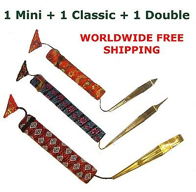 Jaw/Jew's / Mouth Harp Dan Moi Vietnam Set of 3: 1 Mini, 1 Classic, 1 Double