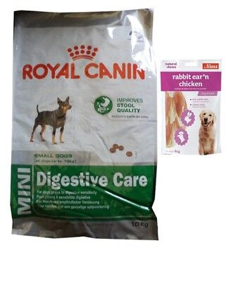 10kg Royal Canin Mini Digestive Care + 80g Fleischsnacks