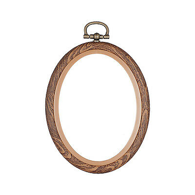 Embroidery Flexi Hoop CrossStitch Sewing Oval Plastic Frame - 2 x 3 inch