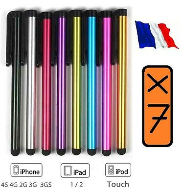 Lot De 7  Stylet Stylo Pen Pour Ecran Capacitif Apple Iphone-Ipod Touch-Ipad