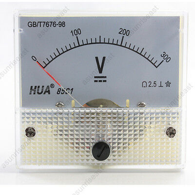 1 × DC 300V Analog Panel Volt Voltage Meter Voltmeter Gauge 85C1 White 0-300V DC
