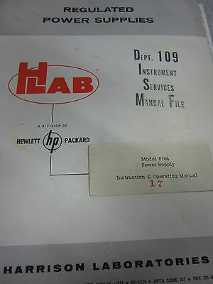 HP 814A Power Supply Instruction & Operation Manual