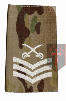 Pair SGT MULTICAM MTP PTI Rank Slides Sergeant ( Physical Training Instructor