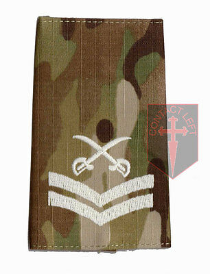 Pair CPL MULTICAM MTP PTI Rank Slides Corporal ( Physical Training Instructor