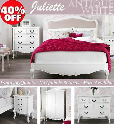 Shabby Chic White Bedroom Furniture Bedside Tables Dressing Wardrobes