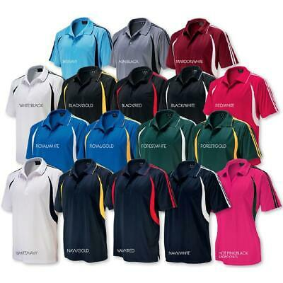 Mens Flash Polo Shirt Cool Breathable Jersey Top Gym Active Size S - 5XL Sports