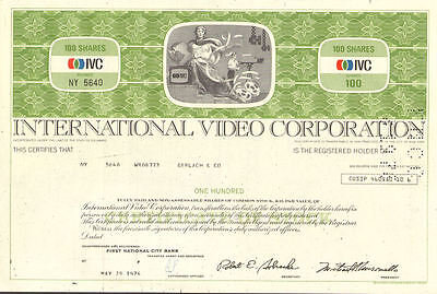 International Video Corporation > IVC stock certificate share
