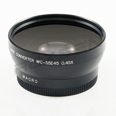55mm 0.45x Wide Angle Conversion lens for Canon Sony Nikon Panasonic Pentax