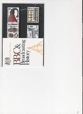 1972 Royal Mail Pres Pack Bbc & Broadcasting History Mint Decimal Stamps