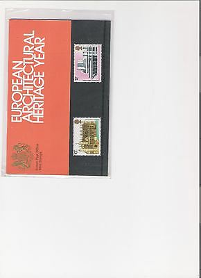 1975 Royal Mail Presentation Pack European Architecture Mint Decimal Stamps