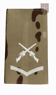 Pair LCPL MULTICAM MTP SAA Rank Slides Lance Corporal ( Skill At Arms Instructor
