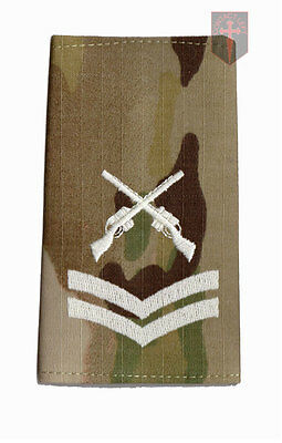 Pair CPL MULTICAM MTP SAA Rank Slides Corporal ( Skill At Arms Instructor