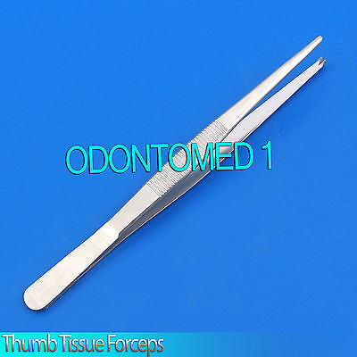 """6 Thumb Rat Tooth Tissue Forceps 1x2t 5.5"""" Surgical Instruments"""