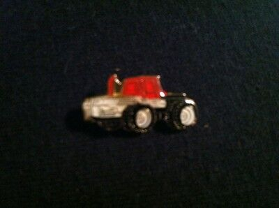 "Vintage Tractor Hat Pin  Lapel Pin / Baked Enamel / New Old Stock / 7/8"" x 7/16"""