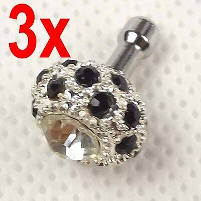 3 x 3.5 mm Anti Dust Earphone Ear Cap Dock Plug for iPhone 3 4 4s  new  iPad 3 2