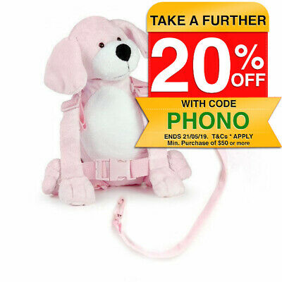 Children Walking Harness Puppy Backpack Kids/Toddler Safety Leash Tether Strap