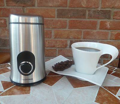 Lloyton Coffee Grinder Silver E5602SS NEW Grinding Coffee Beans