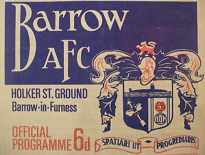 Barrow Home Programmes *Choose Opponents*