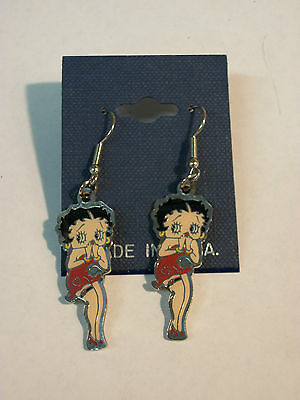 Betty Boop Enamel Red Classic Earrings