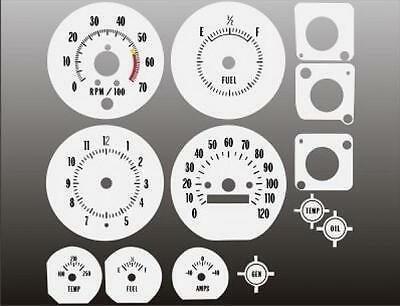 1970-1972 Monte Carlo Chevelle Dash Cluster White Face Gauges 70-72