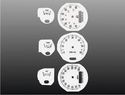1974-1978 Ford Mustang Dash Cluster White Face Gauges 74-78