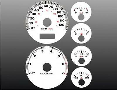 1999-2001 Jeep Grand Cherokee Dash Cluster White Face Gauges 99-04