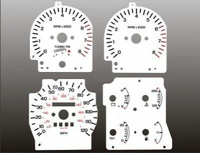 1988-1992 Ford Probe Dash Cluster White Face Gauges 88-92 Turbo