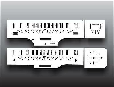 1966-1967 Ford Fairlane Dash Cluster White Face Gauges 66-67