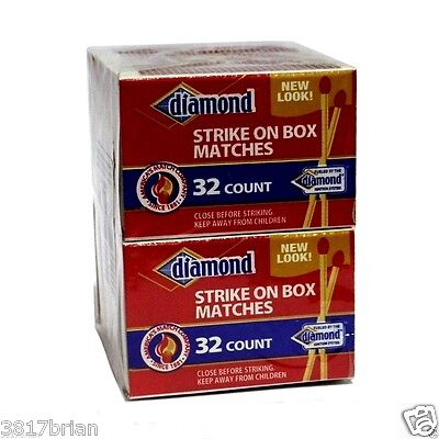 10 BOXES DIAMOND WOODEN RED PENNY MATCHES 32 x 10=320 STRIKE ON BOX CIGAR SAFETY