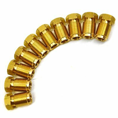 """Brass Brake Pipe Fittings M12 x 1mm Male 10 PACK for 1/4"""" Pipe FL22"""
