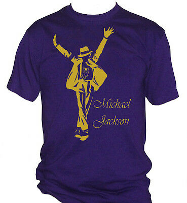 fm10 t-shirt uomo MICHAEL JACKSON stampa ORO king of pop MUSICA