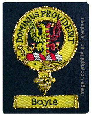Boyle Family Crest Hand Embroidered Sew-On Blazer Badge