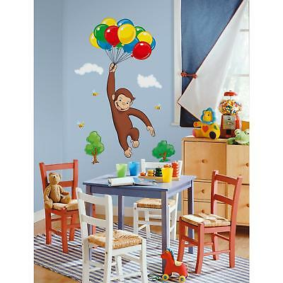 New Giant CURIOUS GEORGE WALL DECALS Kids Room Stickers Decorations Monkey Decor