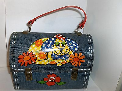 Denim Diner-Little Puppy Dog`1975`Aladdin.Dome Style.Metal Lunchbox..Free To US