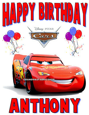 New Cars Lightning McQueen Personalized Birthday T Shirt Party Favor Add Name