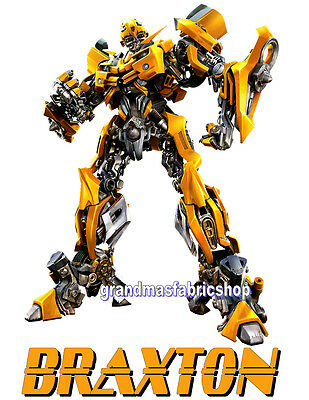 Transformers Bumblebee Personalized T Shirt Party Favor Birthday Gift present