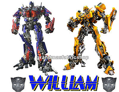 NEW Personalized Transformers Bumblebee Optimus Prime T Shirt Party Favor