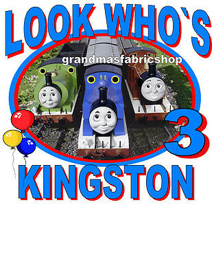 Thomas The Train & Friends Personalized Birthday T Shirt Add Name & Age