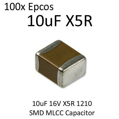 100pcs 10uF Epcos SMD Capacitor 1210 16V X5R On Tape