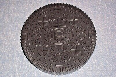 "Giant Nabisco Oreo Cookie Plastic Jar Storage Case 9-1/2""inch Galleta Container"