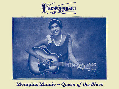 John Tefteller's Blues Images Poster Memphis Minnie Vocalion Race Records Art