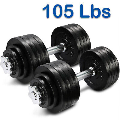 Yes4All 105 lb Adjustable Dumbbell Weight Set - Cast Iron Dumbbells