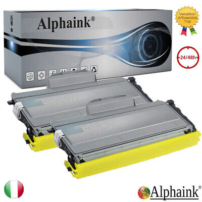 2 Toner Per Brother Tn2120 Hl2140 2150N Dcp 7030 7040 745N Mfc 7320 7440N 7840W