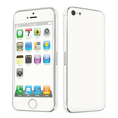 USA Case Decal Vinyl Cover Sticker Skin for Apple iPhone 5 White
